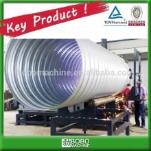 Spiral pre-stressed pipe machine for concrete