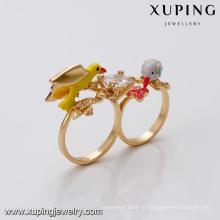 14458 xuping 18k позолоченный дизайн моды имитация кристалл кольцо для женщин
