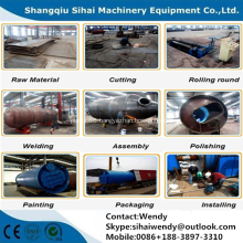 Waste tire recycling to oil machine