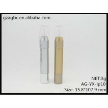 Nouvelle arrivée plastique rond Tube de rouge à lèvres/Lipsitick Pen AG-YX-lp10, taille de tasse 9,8 mm, AGPM empaquetage cosmétique, couleurs/Logo personnalisé