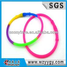 Nueva pulsera de silicona de colores para niños, pulseras de silicona barato abrigo