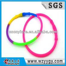 Nova pulseira de silicone coloridos para as crianças, pulseira de silicone barato de envoltório