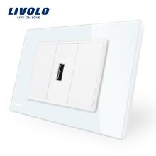 Электрическая вилка и розетка Livolo для умного дома VL-C91U-11/12