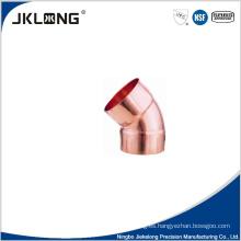J9007 cobre 45 grados codo cc 1 pulgada de tubería de cobre de montaje