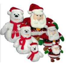 Muñeco de peluche de Navidad de felpa suave 2011 y Papá Noel 2011