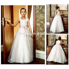 Guangzhou-Fabrik elegante Kleider für Mädchen Hochzeit formale Kleider A-Linie Designs Blumenmädchen Kleid von 9 Jahre alten Patterns