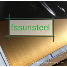 SS Color HL Gold PVD sheets