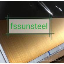 SS Color HL Gold PVD листы