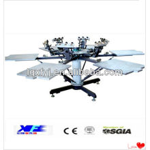 Stable 6 color 6 station t shirt screen printing machine
