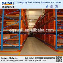 China estante del almacenaje del almacén distribuidor pasillo estrecho plataforma