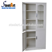 xxxn armário de armazenamento porta de vidro armário de arquivo de metal