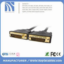 Gold plated dvi 24+1 male to male 10ft lead FOR HDTV LCD LED