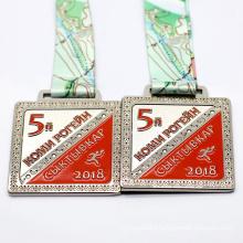 Medal Maker Custom Square Shape Race Obstacle Racing Medals