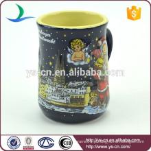 YScc0017-01 Papai Noel e boneco de neve Cup cerâmica decorativa para presente de Natal