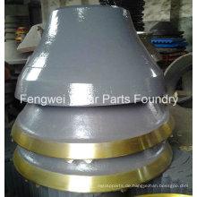 High Mangan Steel Cone Crusher Bowl Liner