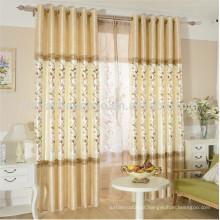 Cortinas de crianças design cortinas de janela de tecido de seda crua