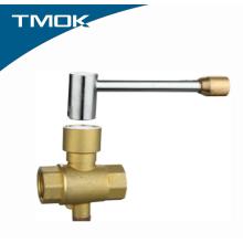 Válvula de esfera de medição de temperatura de bronze de rosca fêmea de alta qualidade com bloqueio dentro Valvula