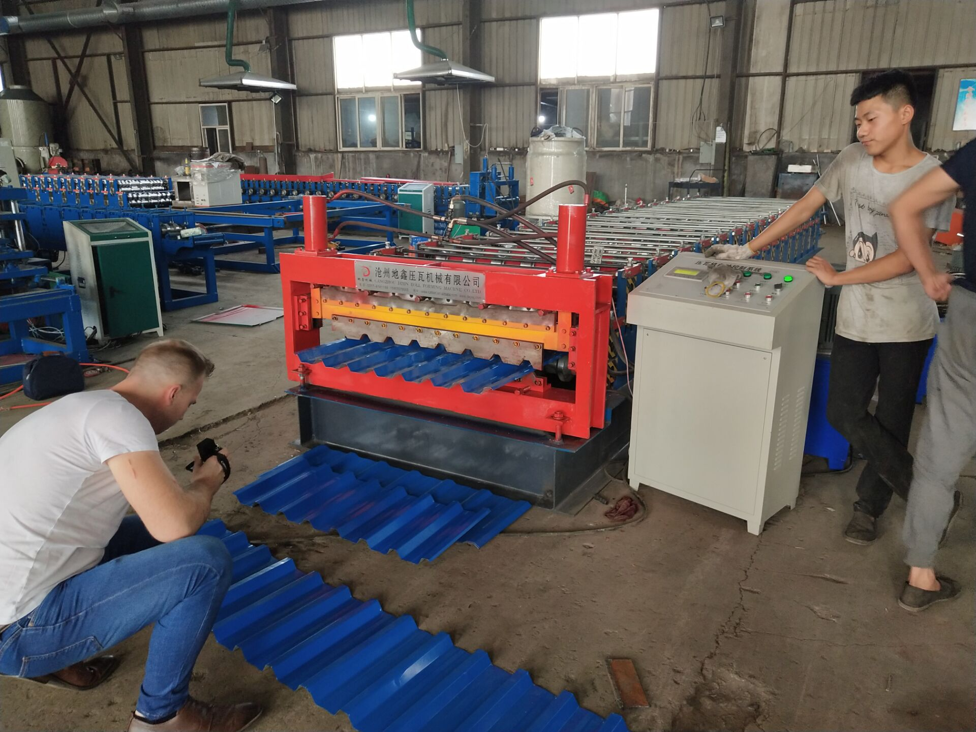 Trapezoidal double sheets roll forming machineryTrapezoidal double sheets roll forming machinery