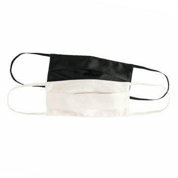 Silk 2 Mask White Black Face Máscaras lavables