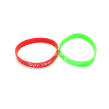 Promosi Bercetak silikon Wristbands-250 * 12 * 2mm