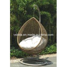 Ouddor Proch Cocoon Wicker Patio Rattan Swing Chair
