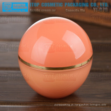 YJ-O70 70g bola acrílico grande inovadora forma redondo frascos plásticos