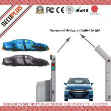 Open roof X ray vehicle scanner inspection system for border to check passager cars