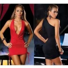 Nouvelle robe sexy en col en V