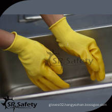 SRSAFETY 13 gauge knitted polyester liner PVC coated work gloves/Polyester liner coated PVC gloves/PVC coated work gloves