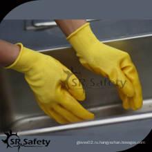 SRSAFETY 13 калибровочные трикотажные полиэфирные вкладыши Рабочие перчатки с ПВХ покрытием / полиэфирные покрытые ПВХ перчатки / перчатки с ПВХ покрытием
