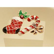 Bijoux de Noël / Boucle d'oreille de Noël / Chaussette et bâton de Noël (XER13352)
