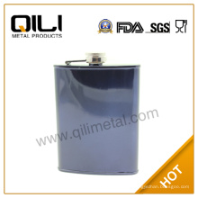 9oz color puro promocional metal frasco de la cadera