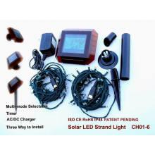 Cadena de luz solar para decoración navideña con certificación CE y RoHS