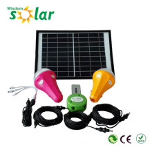 Integrated LED mini solar lighting kit, solar indoor led lighting system with 3 LED lights & mobile charger, 3 lights kit