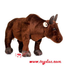 Plush Farm Animal Brown Cow