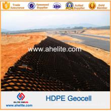 Geocell de HDPE de plástico antidesgaste para protección contra pendientes y construcción de cimientos