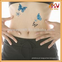 Tatuagem temporária de borboleta personalizada vendida a quente para decoração de festa