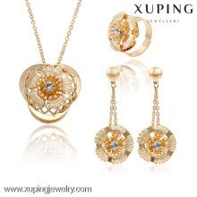 63738 Xuping moda chapado en oro de lujo nupcial joyería de la boda establece