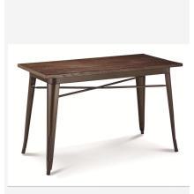 Chine meubles mobilier échantillon gratuit en bois rectangle table à manger de mode