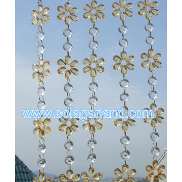 Hanging Acrylic Crystal Bead Strands Latest Designs For Hotel Restaurant Room Divider