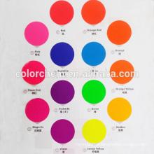 Refined Particle Sized, Good dispersebility Fluorescent Pigment