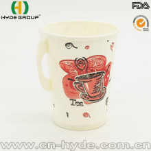 9oz Disposable Single Wall Hot Coffee Paper Cup with Handle