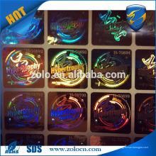 VENDA QUENTE Shenzhen ZOLO etiqueta de holograma de etiqueta de holograma personalizado
