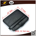 Genuine Calf Leather Slim Credit Card Coin Holder with Button (HJ8107)