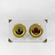 Специальный металлический трофей из акриловой вставки