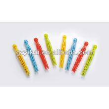 Цветная вешалка для одежды и клипсы, пластиковый штифт