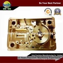 Части CNC подвергая механической обработке с покрытием золото