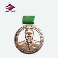 Custom design metal round 3d design die cast zinc alloy medal