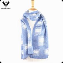 Мода зимние вязания шаблон жаккардовые мужчин шарф