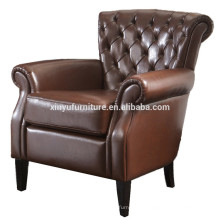 rococo style wood leather chair XYN1000